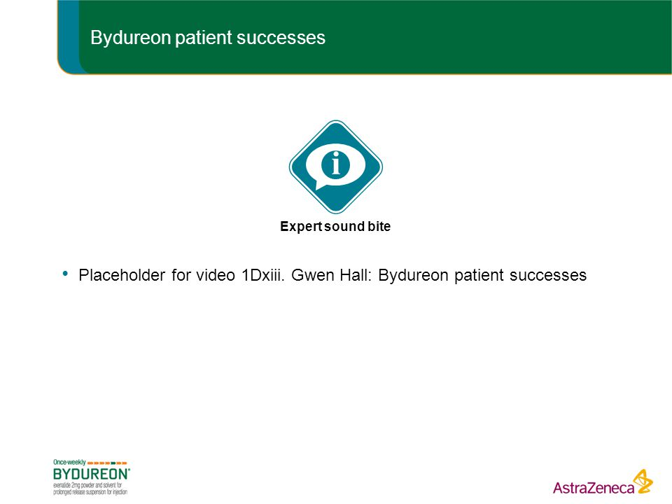 Bydureon patient successes