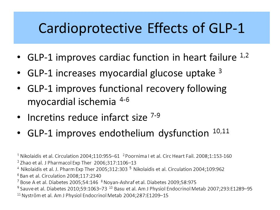 Cardioprotective Effects of GLP-1
