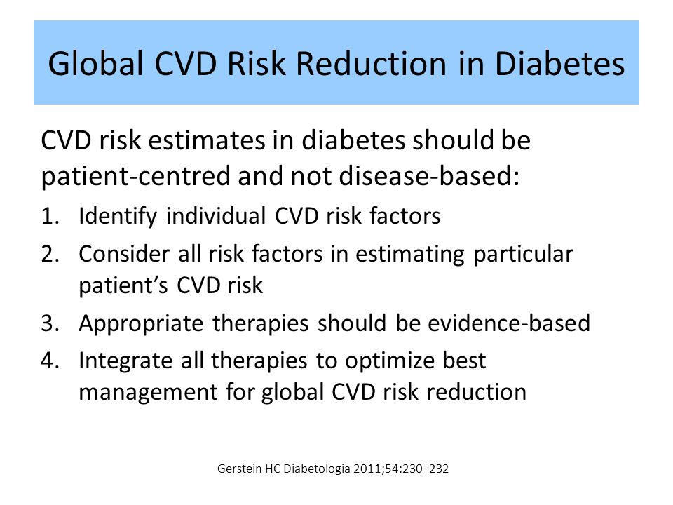 Global CVD Risk Reduction in Diabetes