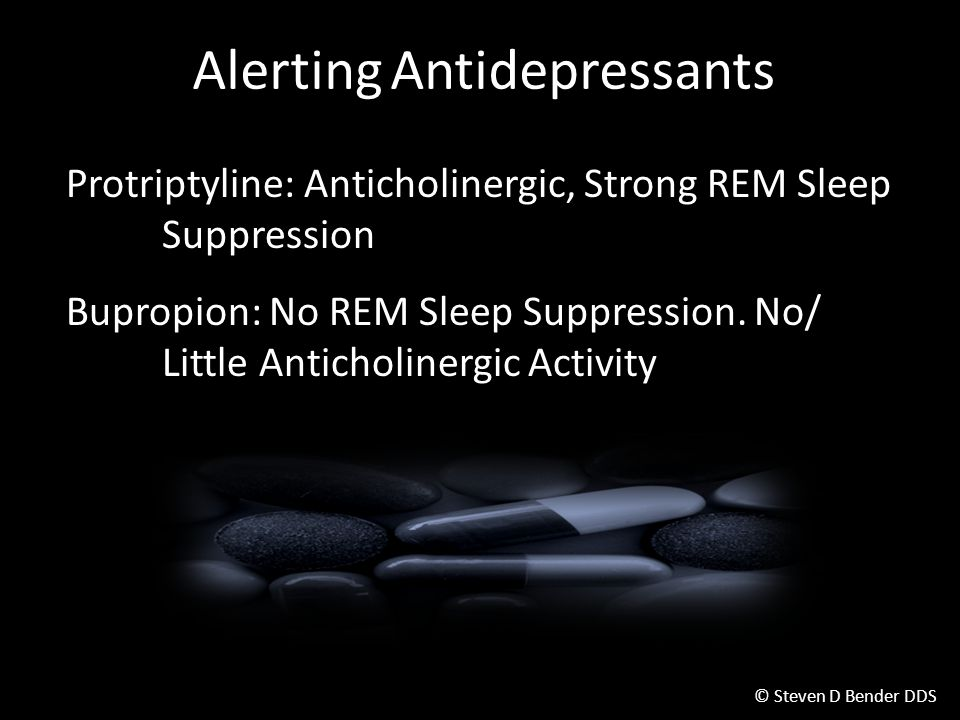 Alerting Antidepressants