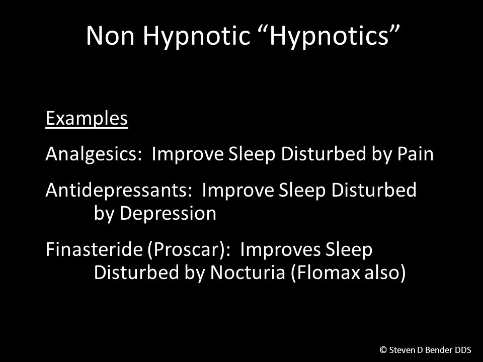 Non Hypnotic Hypnotics