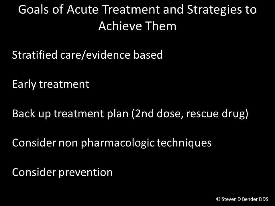 Goals of Acute Treatment and Strategies to Achieve Them