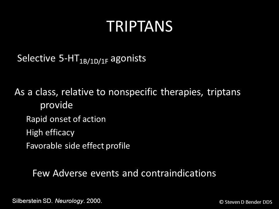 TRIPTANS Selective 5-HT1B/1D/1F agonists