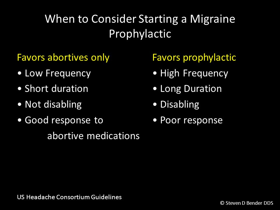 When to Consider Starting a Migraine Prophylactic