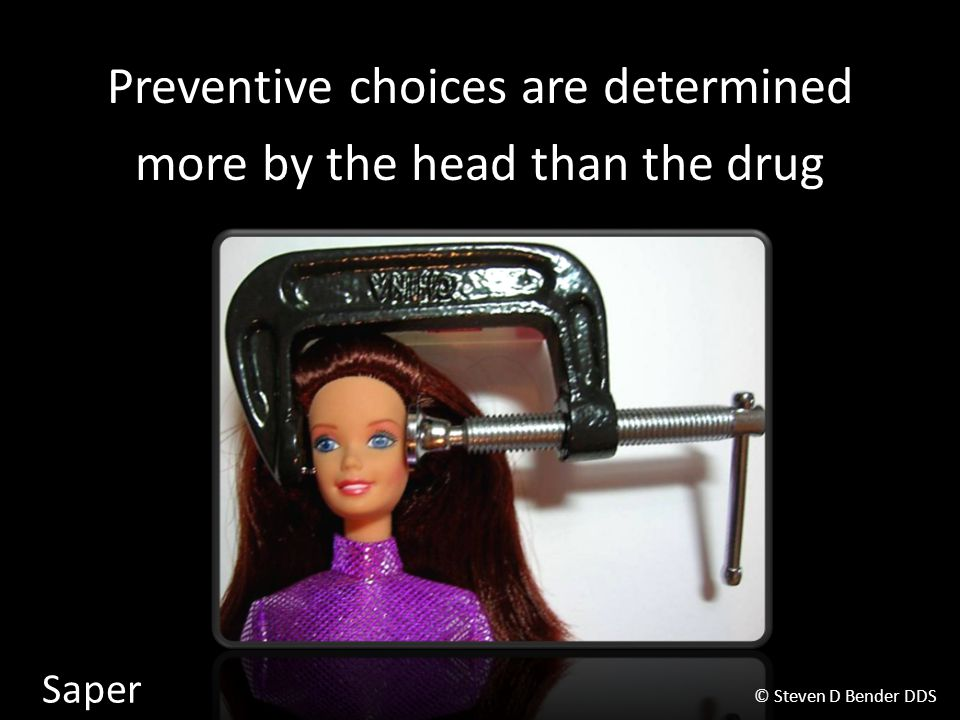Preventive choices are determined more by the head than the drug