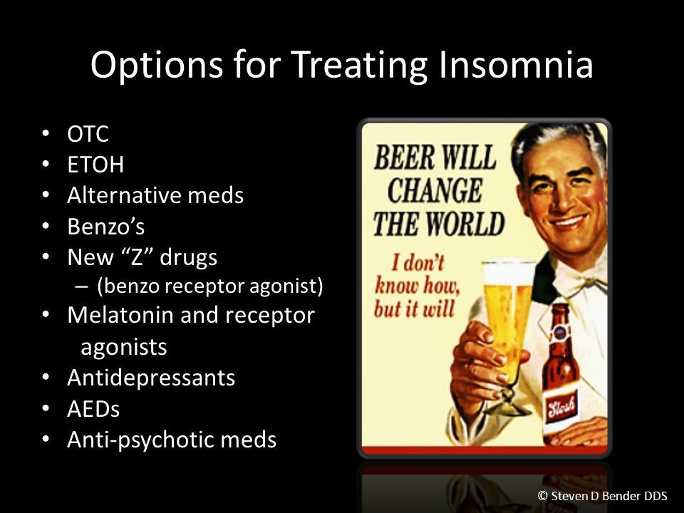 Options for Treating Insomnia