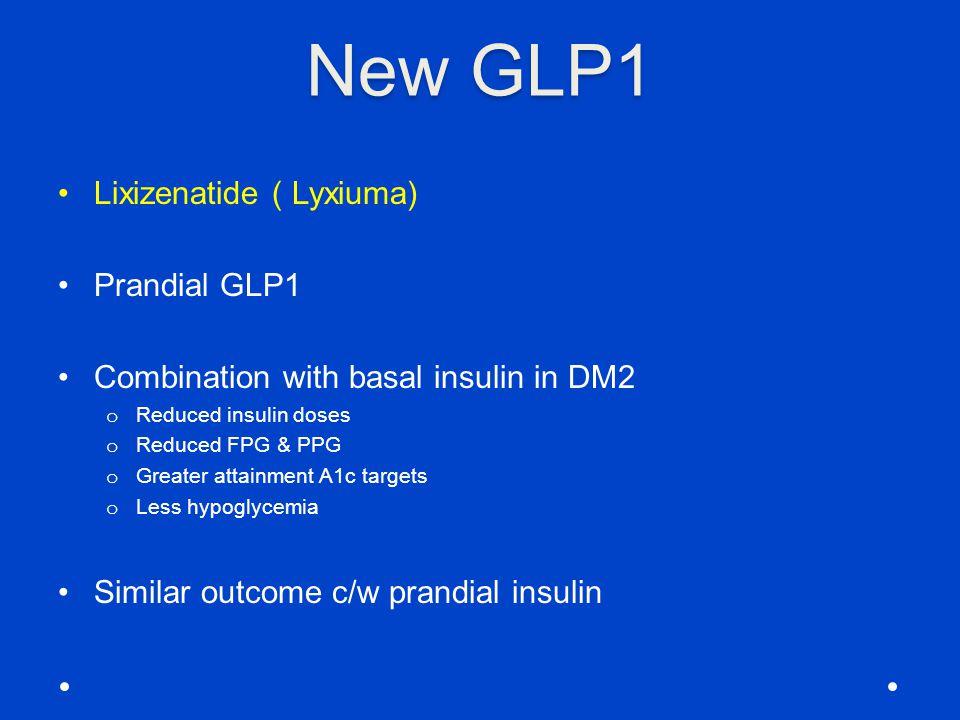 New GLP1 Lixizenatide ( Lyxiuma) Prandial GLP1