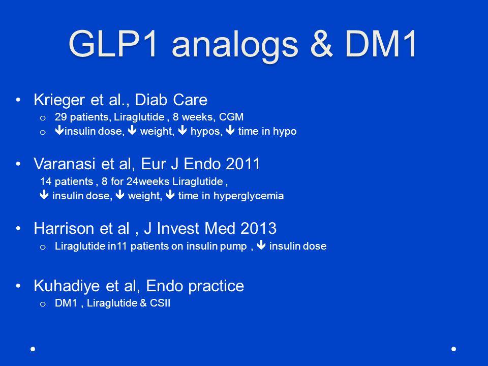 GLP1 analogs & DM1 Krieger et al., Diab Care
