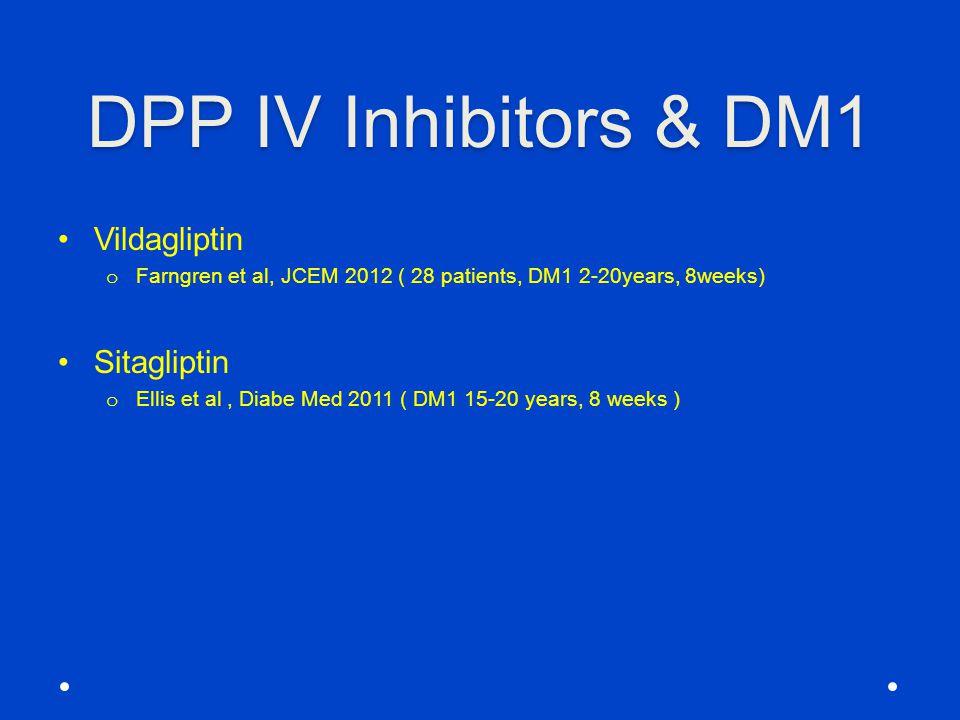 DPP IV Inhibitors & DM1 Vildagliptin Sitagliptin