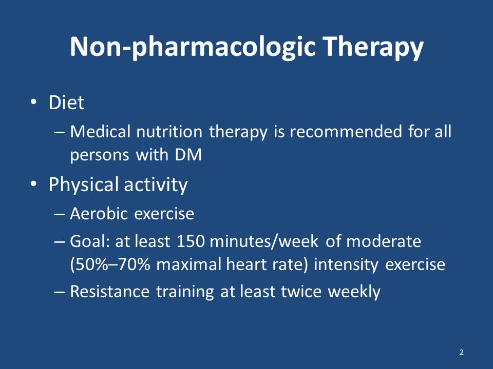 Non-pharmacologic Therapy