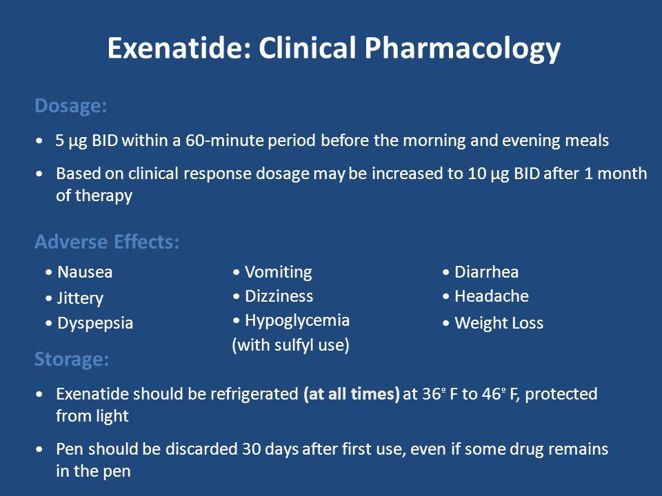 Exenatide: Clinical Pharmacology