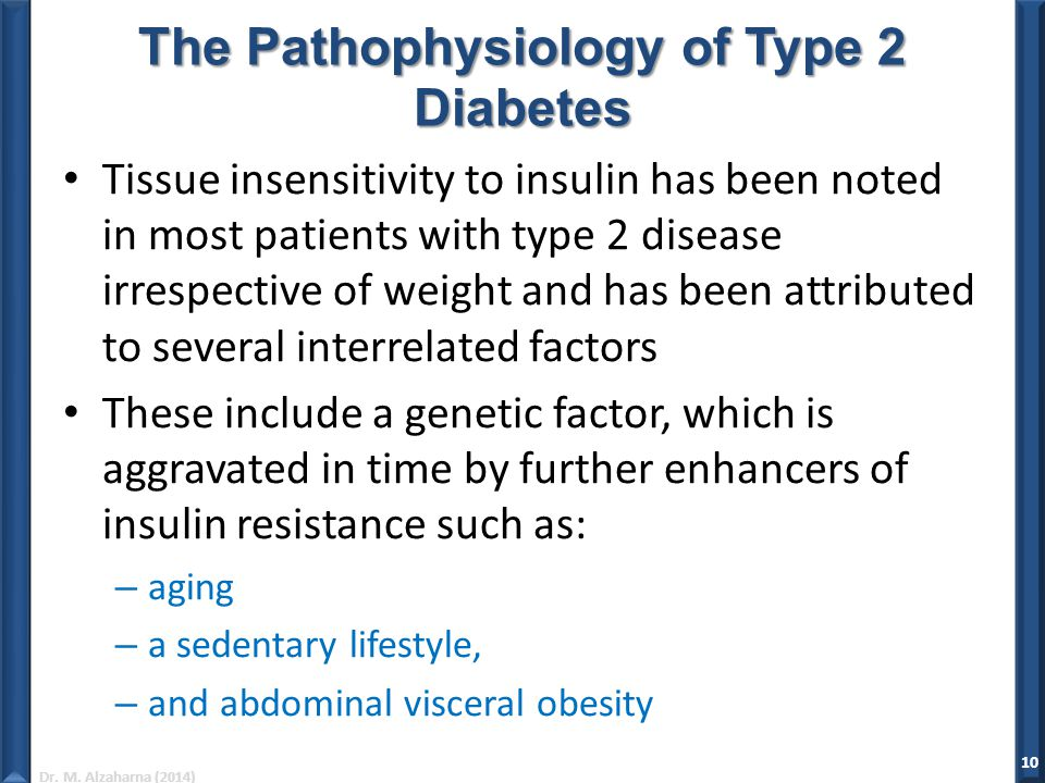 The Pathophysiology of Type 2 Diabetes