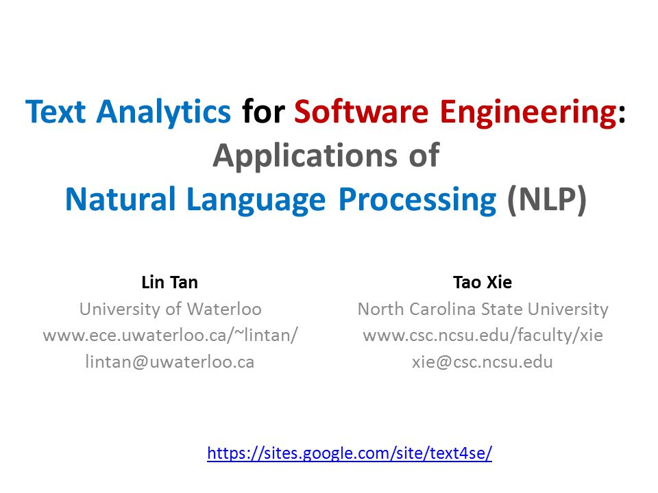 Text Analytics for Software Engineering: Applications of Natural Language Processing (NLP)