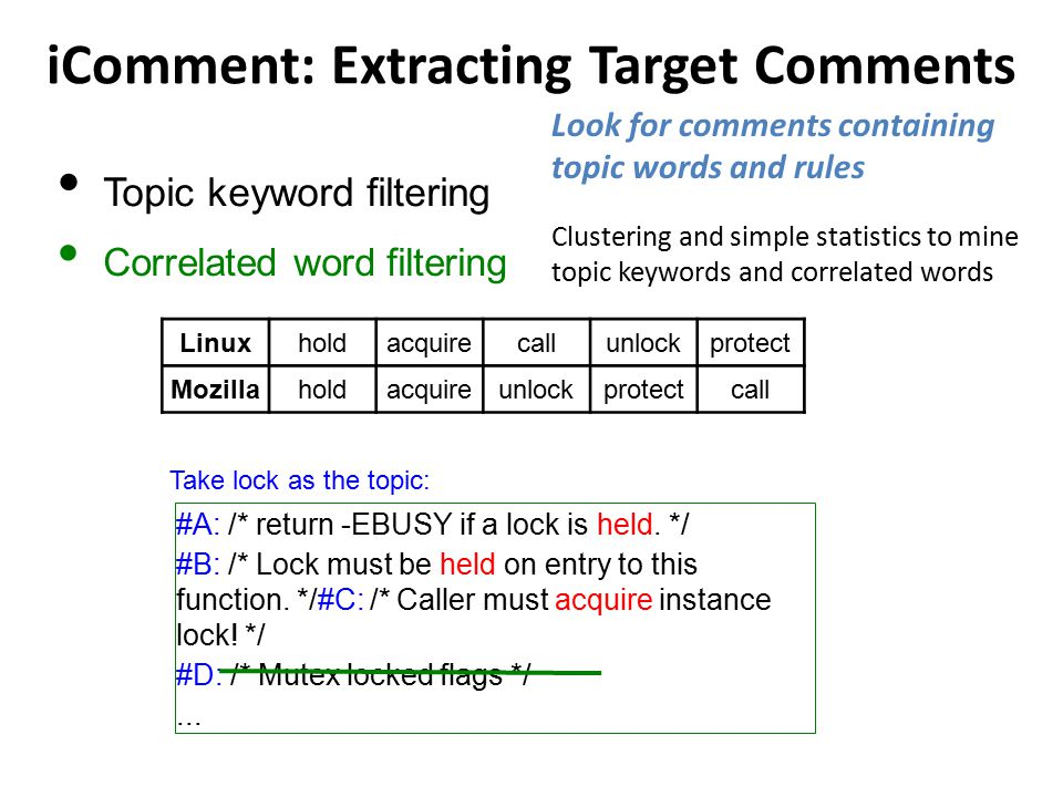 iComment: Extracting Target Comments