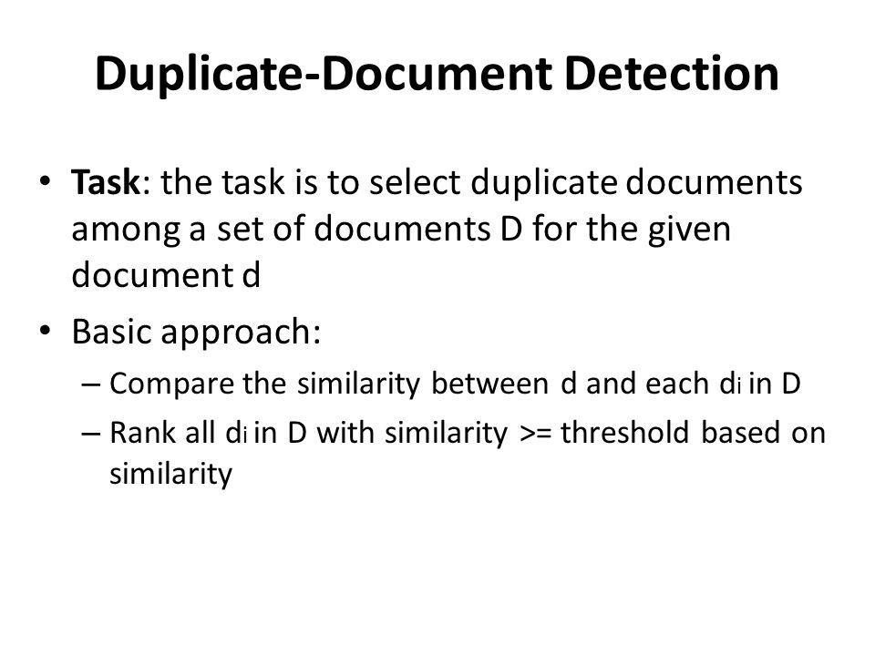 Duplicate-Document Detection