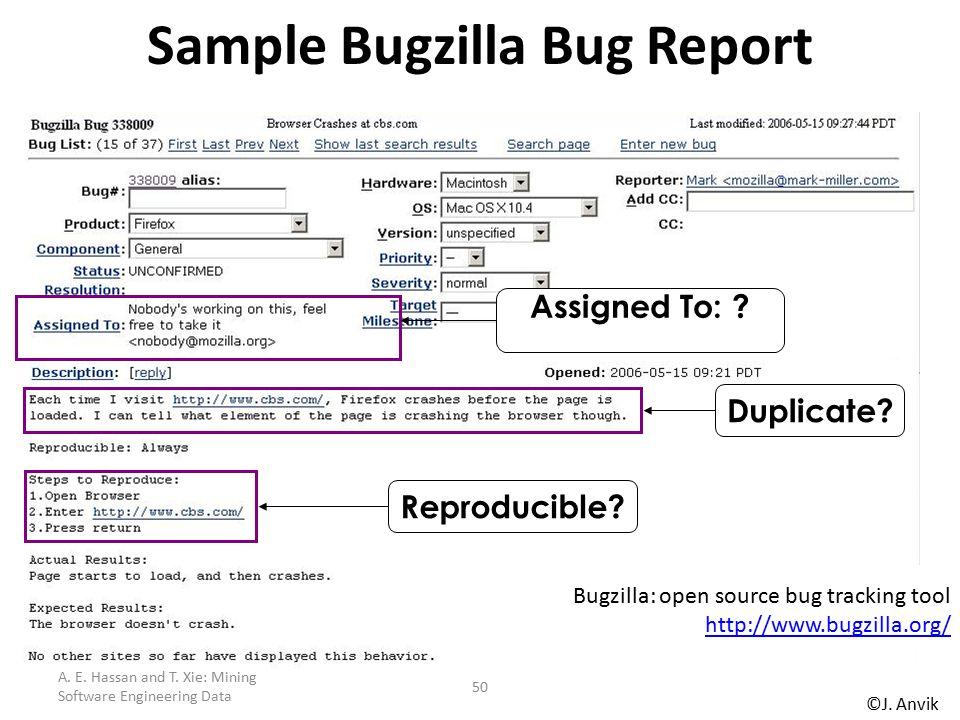 Sample Bugzilla Bug Report