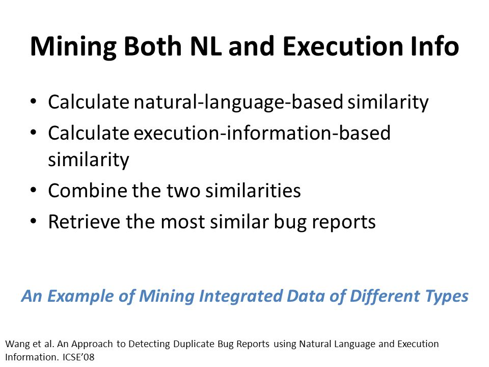 Mining Both NL and Execution Info