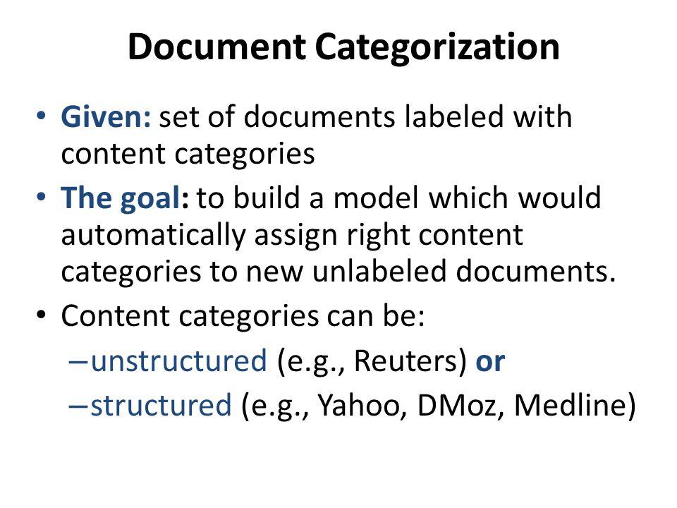 Document Categorization