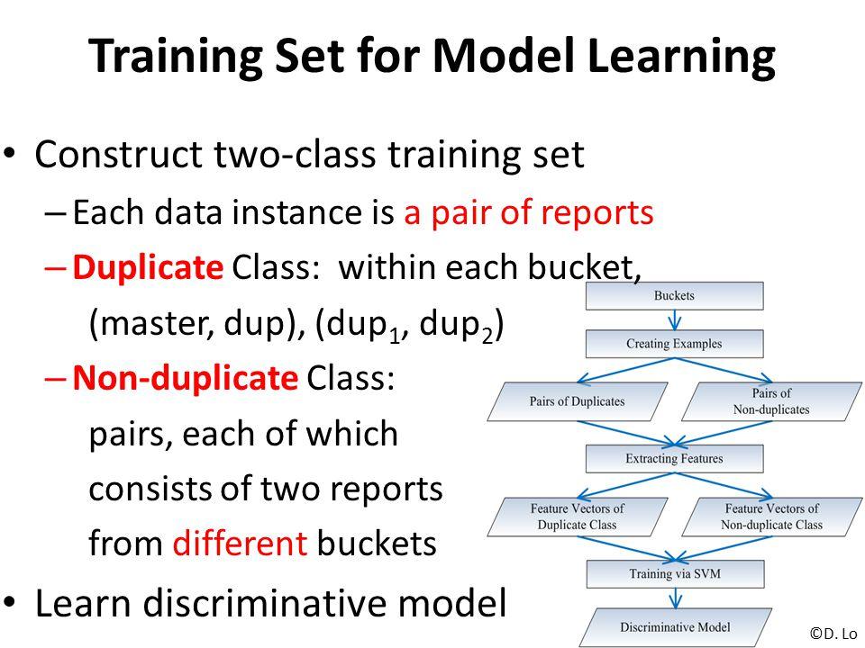 Training Set for Model Learning