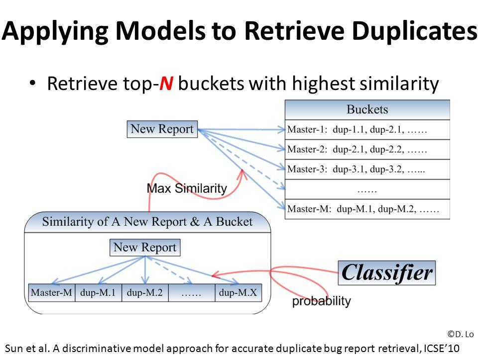 Applying Models to Retrieve Duplicates