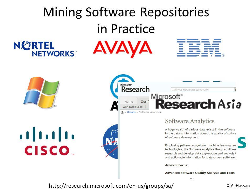 Mining Software Repositories in Practice