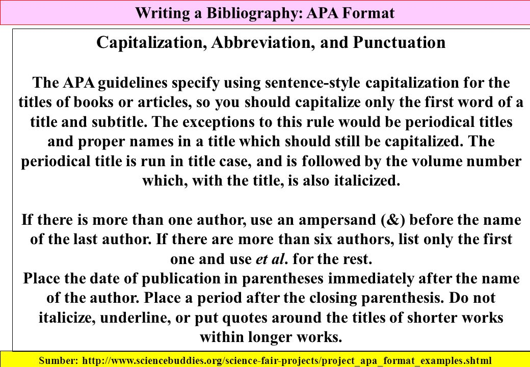Capitalization, Abbreviation, and Punctuation