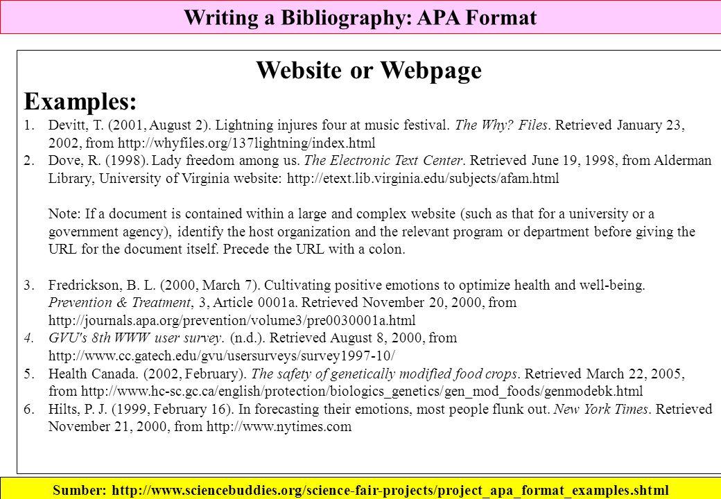 writing bibliography apa