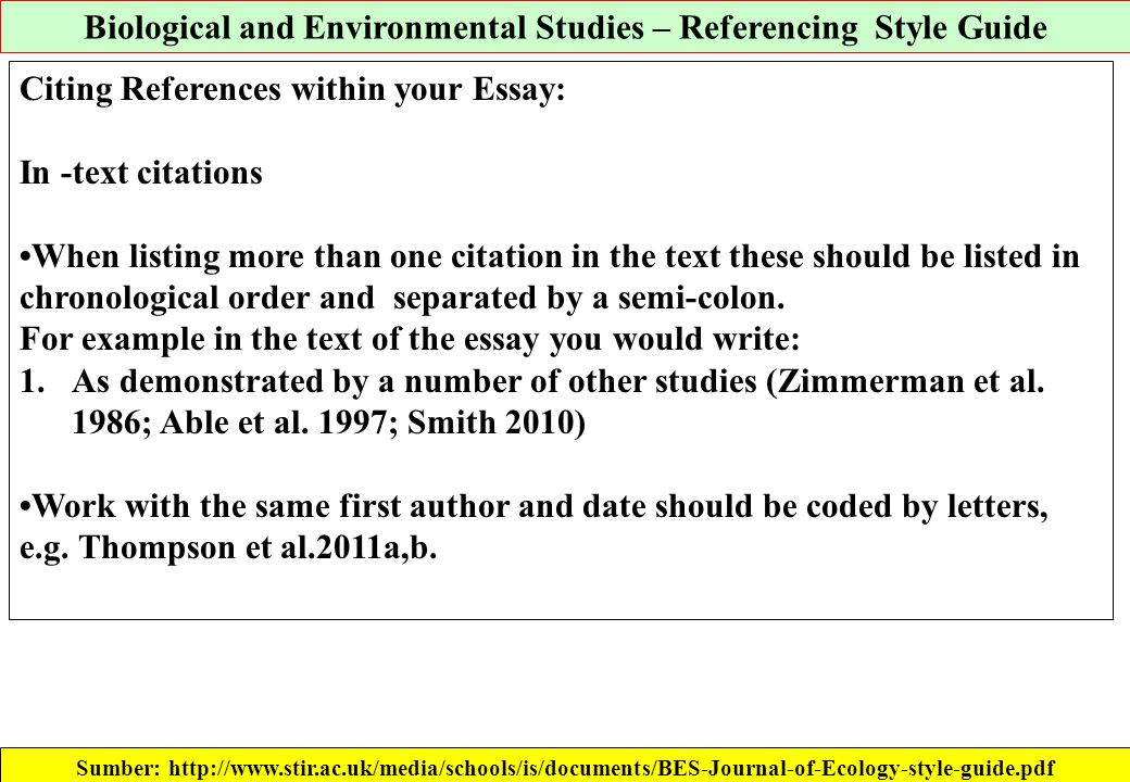 klinik jurnal ppsub februari ppt  biological and environmental studies referencing style guide