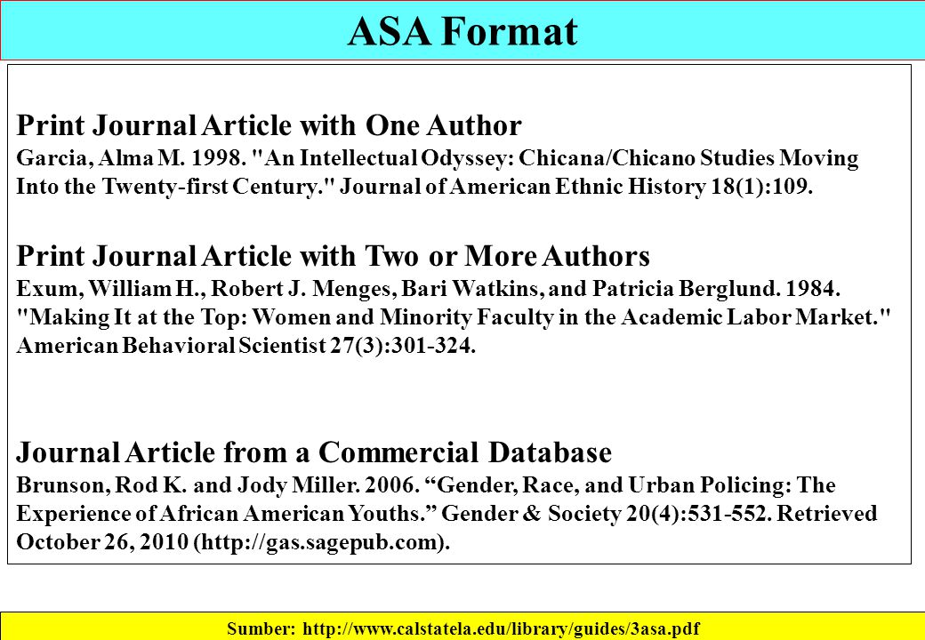how to cite in asa format Use the following template to cite a dvd, video, or film using the asa citation style for help with other source types, like books, pdfs, or websites, check out our other guides.