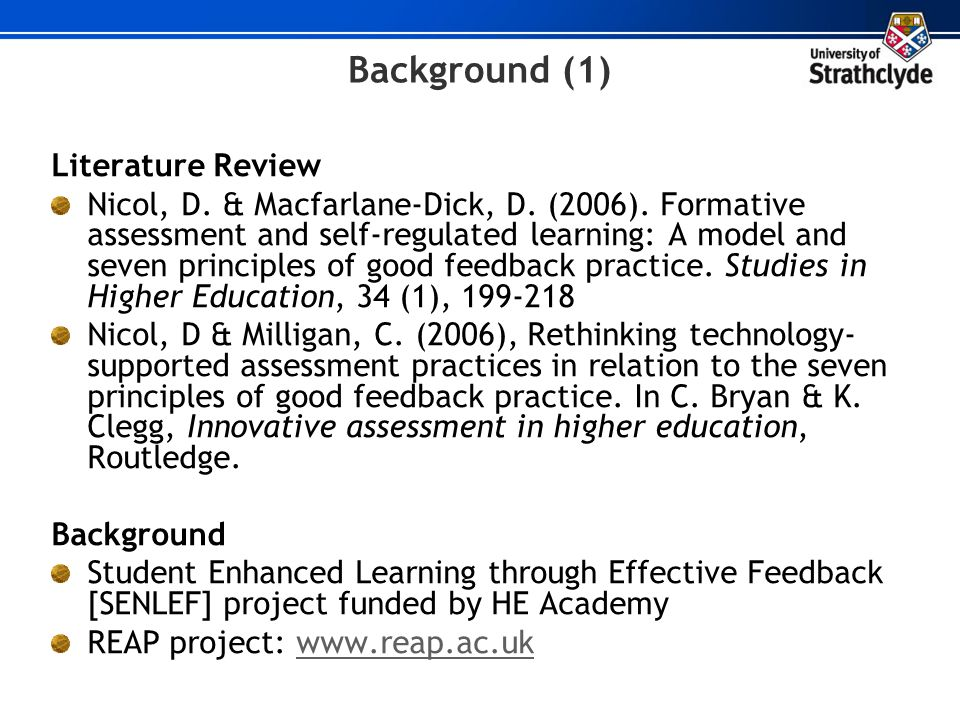 Background (1) Literature Review
