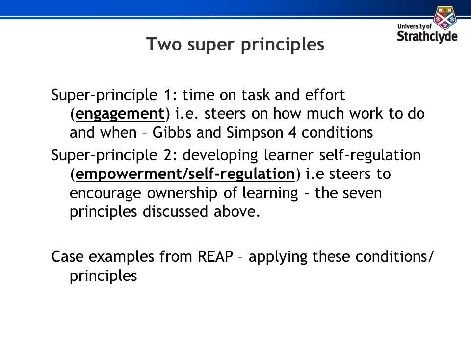 Two super principles