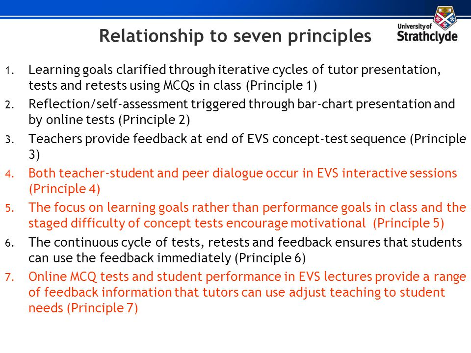 Relationship to seven principles
