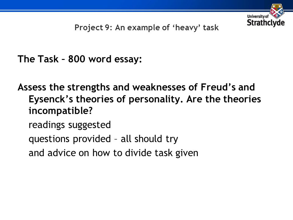 Project 9: An example of 'heavy' task