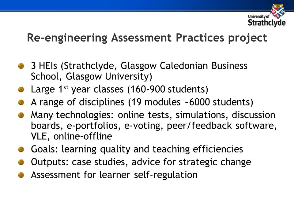 Re-engineering Assessment Practices project