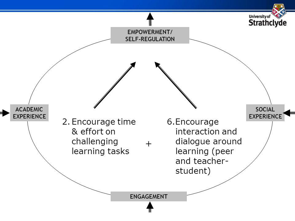 + 2. Encourage time & effort on challenging learning tasks