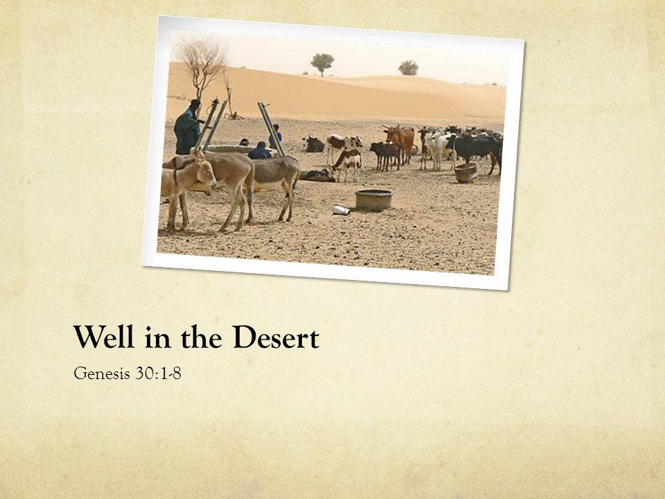 Well in the Desert Genesis 30:1-8