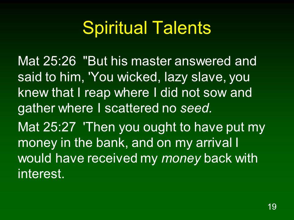 Spiritual Talents