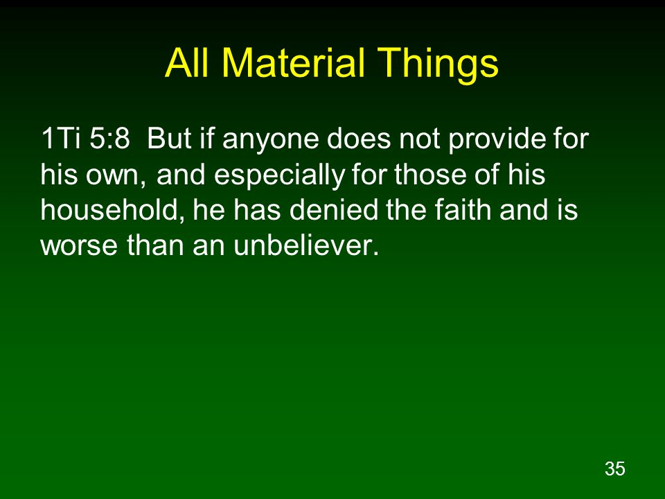 All Material Things