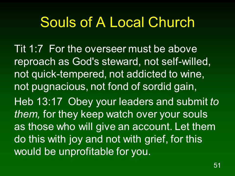 Souls of A Local Church