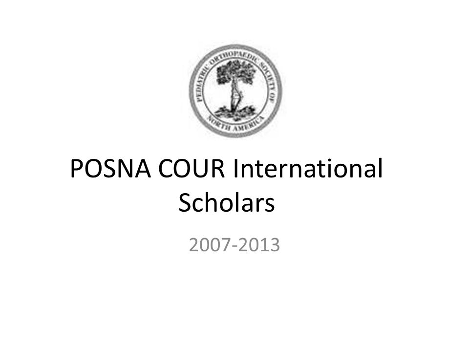 POSNA COUR International Scholars