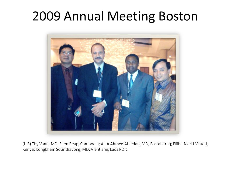 2009 Annual Meeting Boston