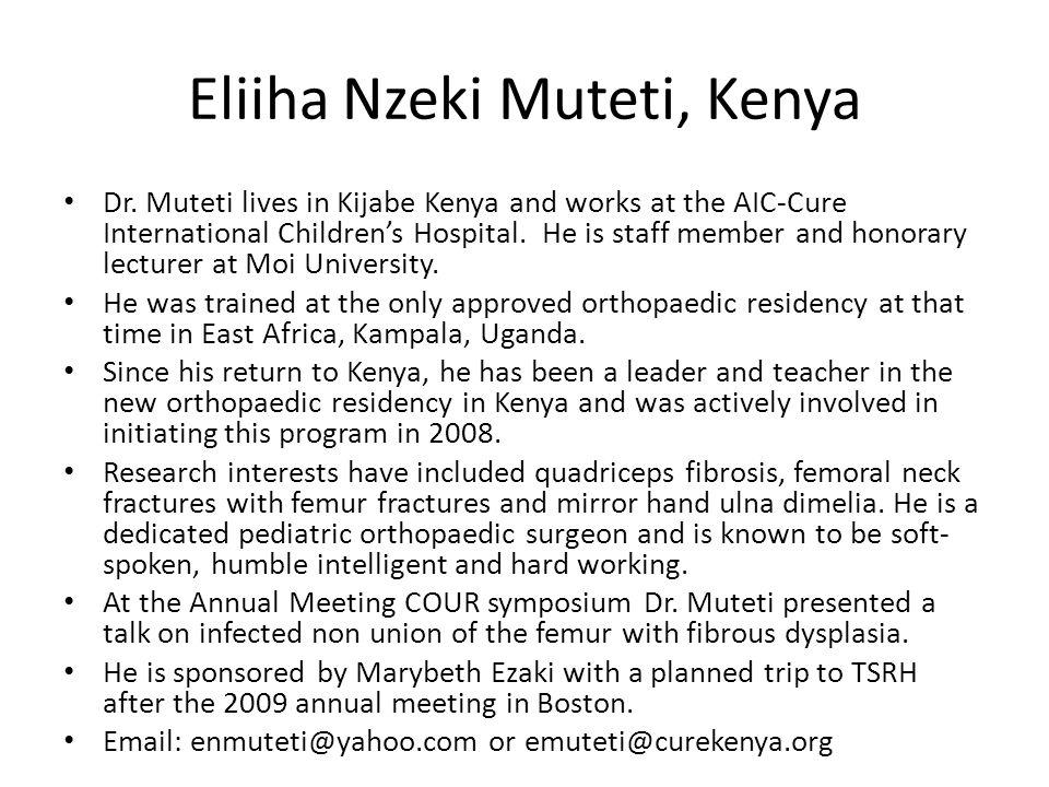 Eliiha Nzeki Muteti, Kenya