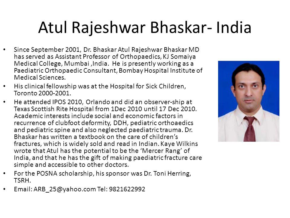Atul Rajeshwar Bhaskar- India
