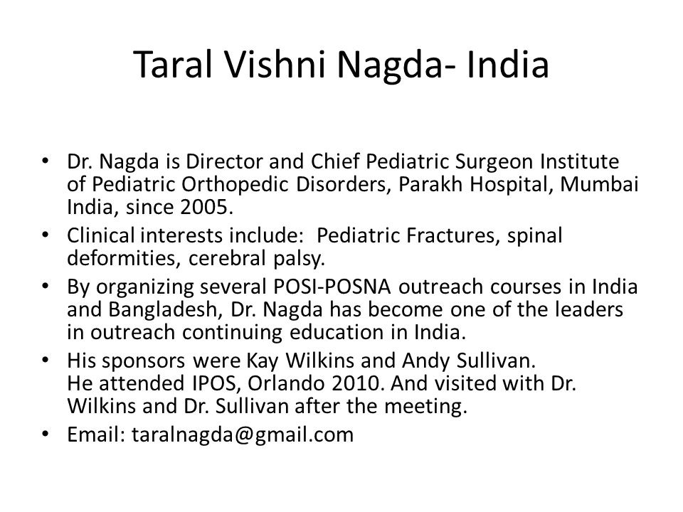 Taral Vishni Nagda- India