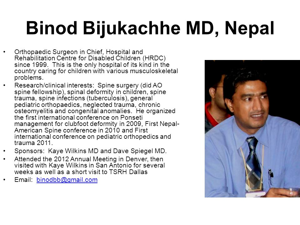 Binod Bijukachhe MD, Nepal