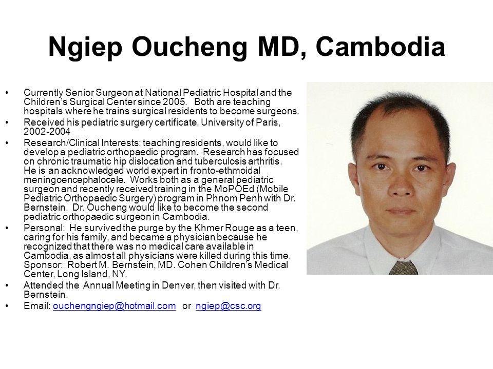 Ngiep Oucheng MD, Cambodia