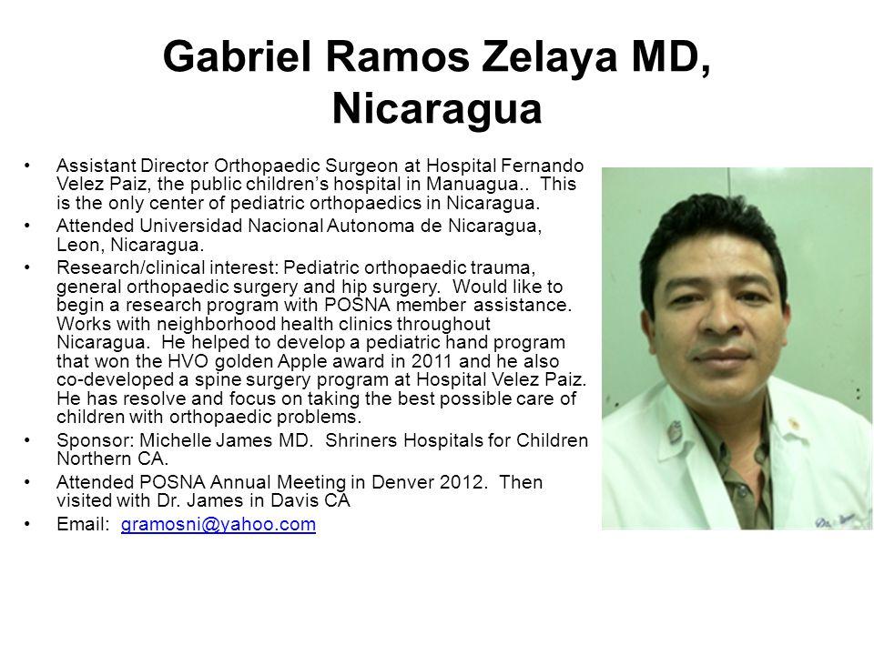 Gabriel Ramos Zelaya MD, Nicaragua