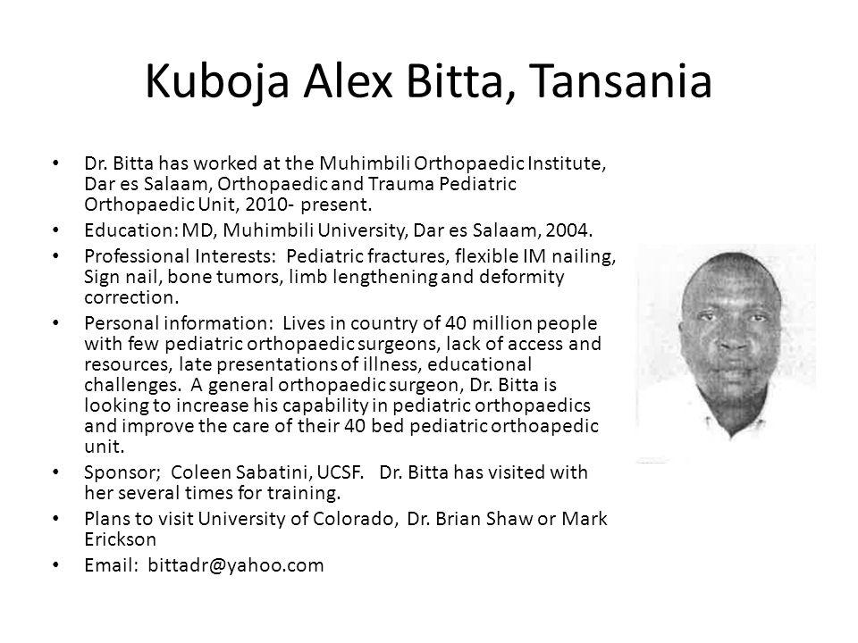 Kuboja Alex Bitta, Tansania