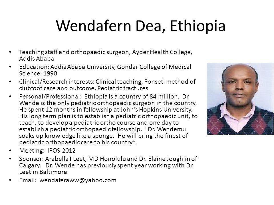 Wendafern Dea, Ethiopia