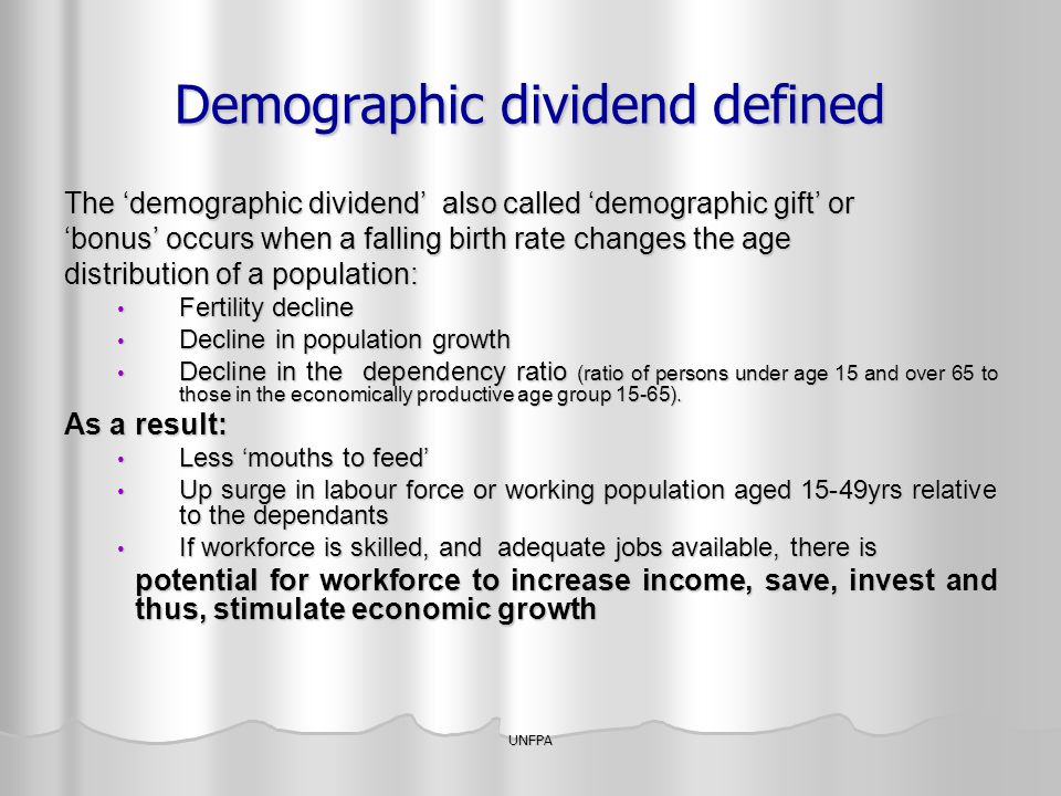 Demographic dividend defined